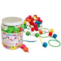 Cubos con cintas