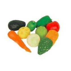 Charola con verdura de vinil